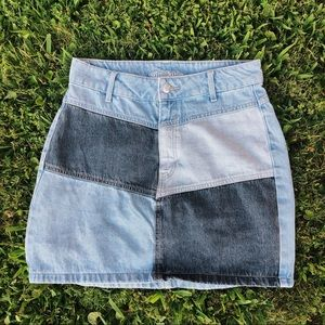 Wild Fable Patchwork Denim Skirt